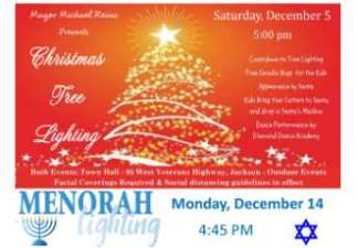 Tree Lighting and Menorah Lighting